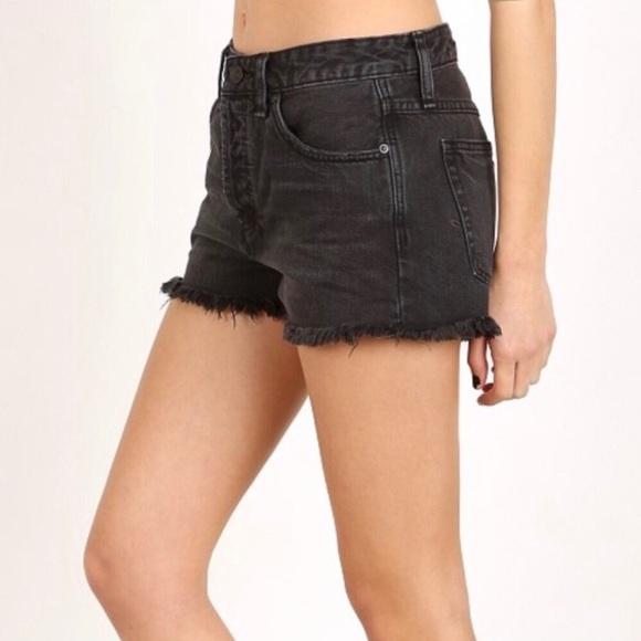 Free People Pants - Free People Black Jean Shorts